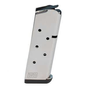 Ed Brown 1911 Officer's/Defender 8 Round Magazine 9mm Luger Stainless Steel Natural Finish