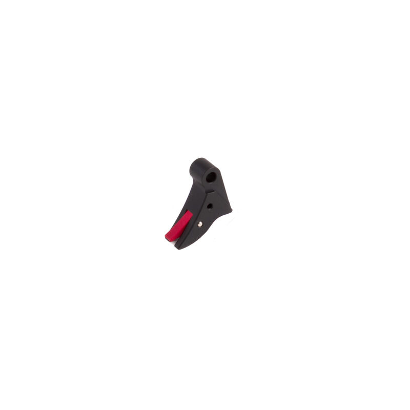 The Gun Company Black Trigger Shoe For GLOCK Red Safety No Bar TGC-GLK-TRG-S-RED