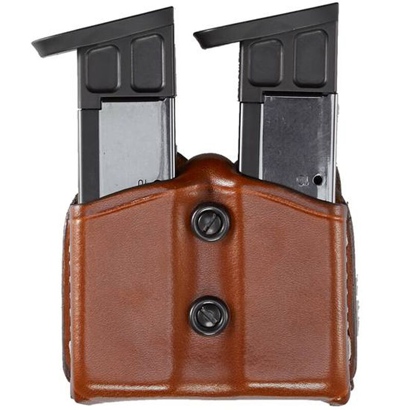 Aker Leather Carry Comp II Double Magazine Pouch Cowhide Tan