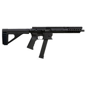 "TNW Aero Survival Pistol 9mm Luger Semi Auto Pistol 10.25"" Barrel 33 Rounds GLOCK Style Magazine Free Float Hand Guard Pistol Stabilizing Brace Matte Black"