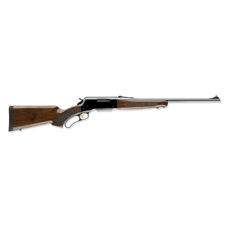 """Browning BLR Lightweight Lever Action Rifle .300 Winchester Magnum 24"""" Barrel 3 Rounds Gloss Finish Walnut Pistol Grip Stock Blued Finish 034009129"""