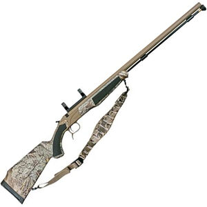 "CVA ACCURA PR Break Action Black Powder Rifle .50 Caliber 28"" Fluted Barrel Dead On Scope Mount Realtree MAX-1 Synthetic Stock Cerakote/Nitride Barrel Finish"