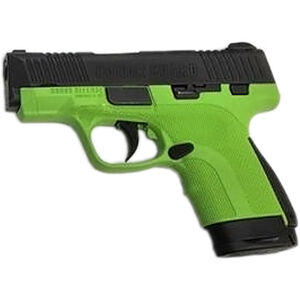 """Honor Guard Sub-Compact 9mm Luger Semi Auto Pistol 3.2"""" Barrel 7 Rounds Manual Safety Polymer Acid Green"""