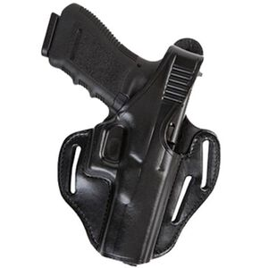 Bianchi Model 77 Piranha S&W M&P 9/40 Belt Holster Leather Right Hand Black 24856