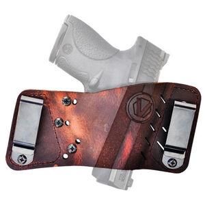 VersaCarry Underground Plus Rapid Slide S3 Most Handguns IWB/OWB Ambidextrous Premium Water Buffalo Distressed Brown