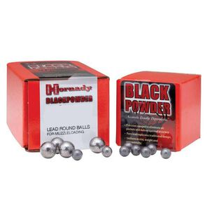 "Hornady Black Powder Muzzleloading Projectiles Lead Round Ball .58 Caliber.570"" Diameter Cold Swaged Pure Lead 50 Count"