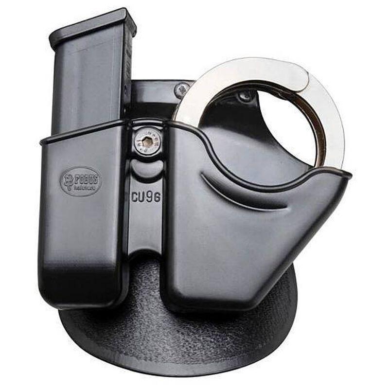 Fobus Magazine/Handcuff Combo Pouch Glock .45 ACP Double Stack Mag/S&W Chain Cuffs Roto-Belt Attachment Right Hand Polymer Black