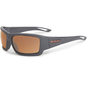 Eye Safety Systems Credence Ballistic Sunglasses Gray Frame Mirrored Copper Lens Black EE9015-02