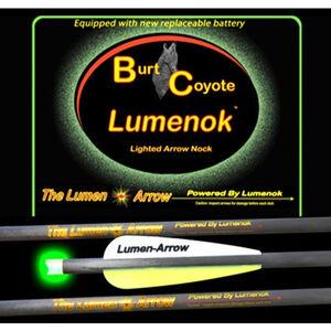 "Lumenoks Burt Coyote Green Crescent Illuminated Crossbow Bolt 20"" Carbon RB-425 Battery 319 Grains 3 Pack BECC3G"