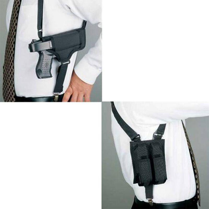 DeSantis Patriot Shoulder Holster For GLOCK/S&W/SIG Compact Ambidextrous Nylon Black N84BJB6J0