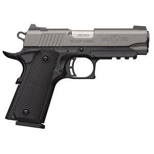 "Browning 1911-380 Black Label .380 ACP Semi Auto Pistol 4.25"" Barrel 8 Rounds 3 Dot Sights Tungsten Cerakote Slide / Black Frame Finish"