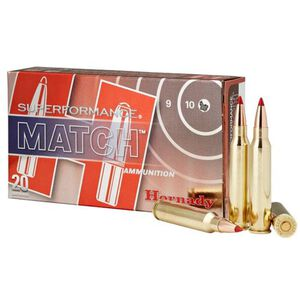 Hornady Superformance Match .223 Remington Ammunition 20 Rounds 73 Grain ELD Match Polymer Tip Hollow Point Boat Tail Projectile 2930fps