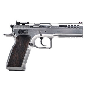 IFG Tanfoglio Defiant Stock Master 9mm Luger Semi Auto Pistol 16 Rounds Adjustable Sights Small Frame Hard Chromed Finish