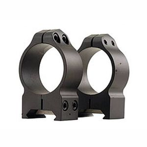 Warne Maxima Fixed Attach Weaver/Picatinny Style Scope Ring 30mm Tube Medium Height Matte Black Finish 214M