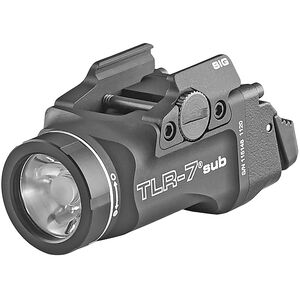 Streamlight TLR-7 Sub Ultra-Compact Weapon Light 500 Lumens Black for Sig Sauer P365/P365X/P365XL