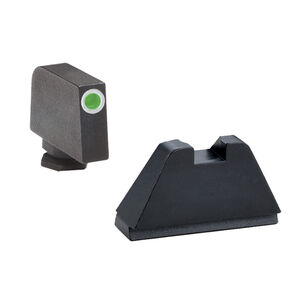 Ameriglo Tall Suppressor Sight Set  for GLOCK Green Tritium Front Dot with White Outline and Flat Black Rear