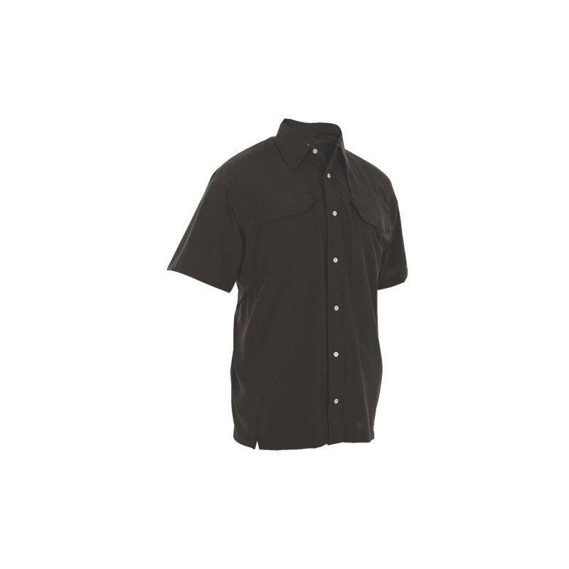 Tru-Spec 24-7 Series Cool Camp Shirt Polyester Spandex Medium Black