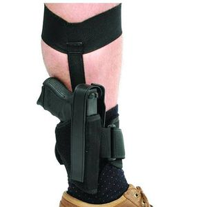 BLACKHAWK! Small Frame Semi Auto .22-.380 Caliber Size 10 Ankle Holster Right Hand Nylon Black 40AH10BK-R