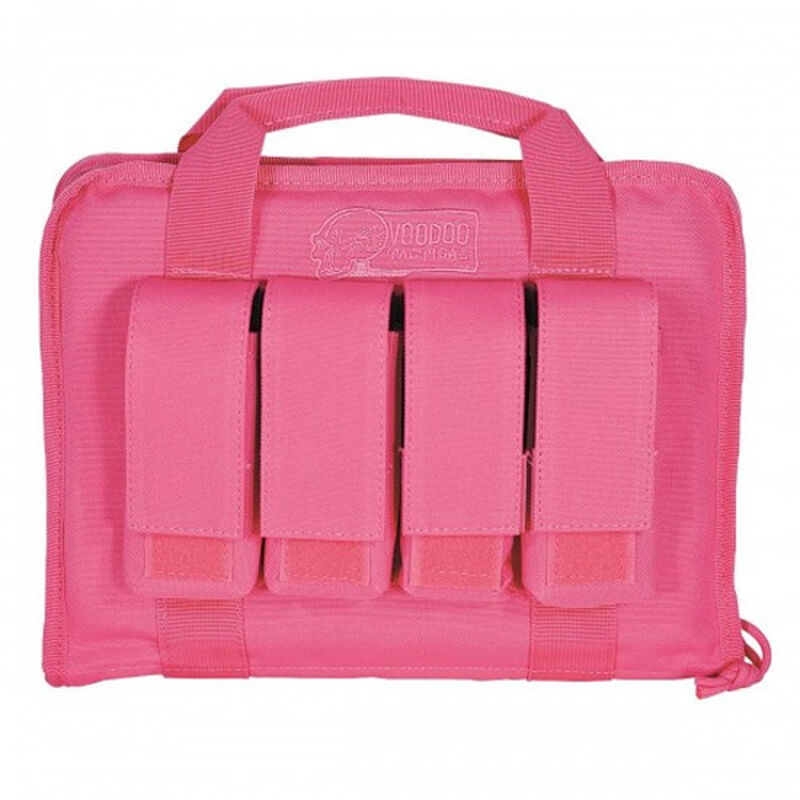 """Voodoo Tactical Lady Pistol Case With Mag Pouches12L""""x9""""Tx2""""D Pink"""