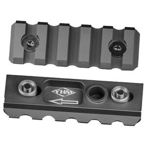 Yankee Hill Machine KeyMod to Picatinny Rail Section 5 Slot Aluminum Black