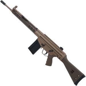 "PTR 91 GIR FDE Semi Auto Rifle .308 Win 18"" Tapered Barrel 20 Rounds Polymer Handguard Fixed Stock Two Tone Patriot Brown/FDE Cerakote Finish"