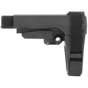 SB Tactical Five Position Adjustable Brace Black  With Six Position Mil-Spec Carbine Ext SBA3-01-SB