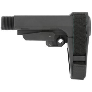 SB Tactical SBA3 Adjustable Brace Black  With Buffer Tube