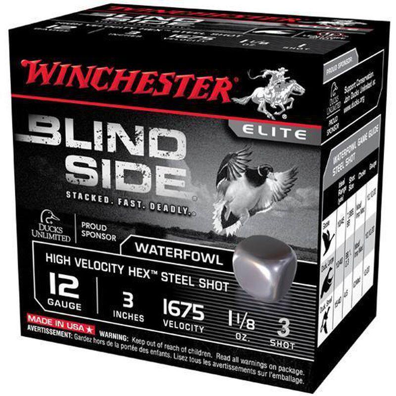 """Winchester Blind Side 12 Gauge Ammunition 250 Rounds 3"""" #3 Steel SBS123HV3"""