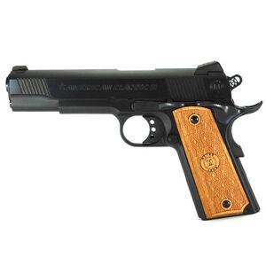 "American Classic II 1911 Government Semi Automatic Pistol .45 ACP 5"" Barrel 8 Round Capacity Wood Grips Matte Blue Finish AC45G2"