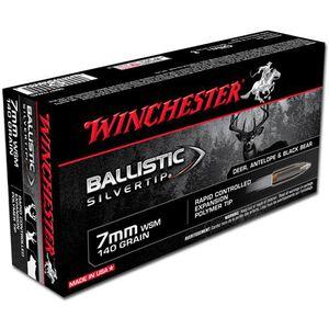 Ammo 7mm Winchester Short Magnum Winchester 140 Grain Supreme Ballistic Silvertip 3225 fps 20 Round Box SBST7MMS