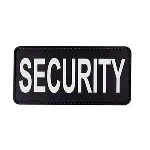 5ive Star Gear PVC Morale Patch Security Black