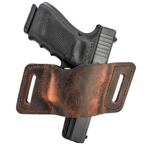 Versacarry Quick Slide Belt Holster Sub Compact Autos Ambidextrous Leather Brown WBAOWB22