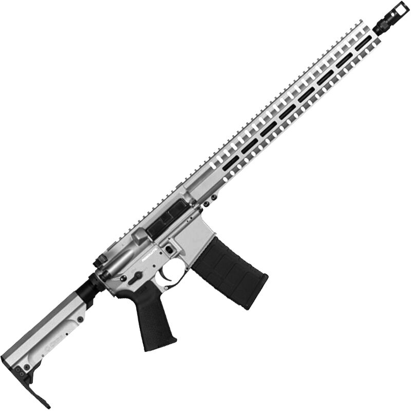 "CMMG Resolute 300 Mk4 9mm Luger AR-15 Semi Auto Rifle 16"" Barrel 30 Rounds Uses ARC Magazines RML15 M-LOK Handguard RipStock Collapsible Stock Titanium Finish"