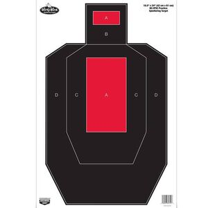 """Birchwood Casey Dirty Bird """"IPSC Practice"""" Paper Target 16.5""""x24"""" Red and Black 3 Pack 35743"""