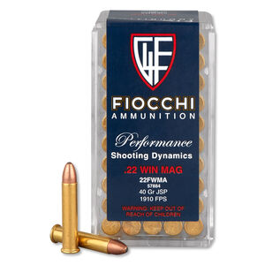 Fiocchi .22 WMR Ammunition 2000 Rounds, JSP, 40 Grain