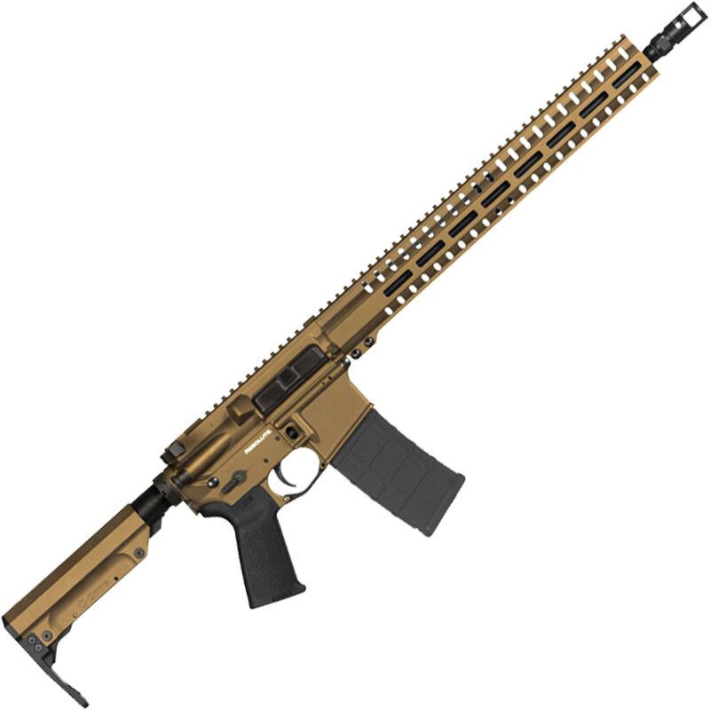 "CMMG Resolute 300 Mk4 5.56 NATO AR-15 Semi Auto Rifle 16"" Barrel 30 Rounds RML15 M-LOK Handguard RipStock Collapsible Stock Burnt Bronze Finish"