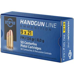Prvi Partizan PPU 9x21mm IMI Ammunition 50 Rounds 124 Grain FMJ 1181fps
