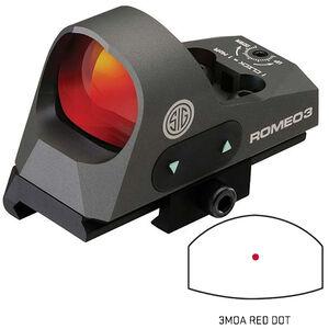 SIG Sauer Optics Romeo3 Reflex 3 MOA Red Dot Sight Graphite Black SOR31002