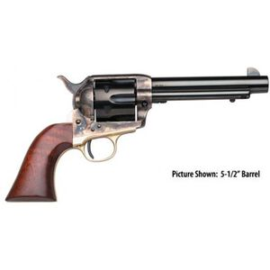 "Taylor's & Co Ranch Hand Single Action Revolver .45 LC 4.75"" Barrel 6 Rounds Color Case Hardened Frame Walnut Grips Blued 450"