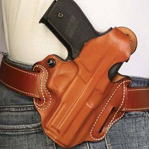 DeSantis Thumb Break Scabbard Beretta 84, 85 Belt Holster Right Hand Leather Plain Tan 001TA75Z0
