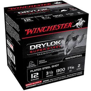 "Winchester Drylok 12 Ga 3.5"" #2 Steel 1.5625oz 25 Rounds"