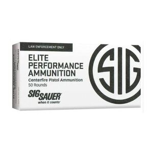 SIG Sauer Elite Performance V-Crown Ammunition 50 Rounds 9mm Luger 115 Grain V-Crown Jacketed Hollow Point Projectile