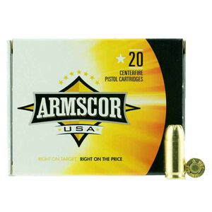 Armscor USA .380 ACP Ammunition 20 Rounds 95 Grain JHP 993fps