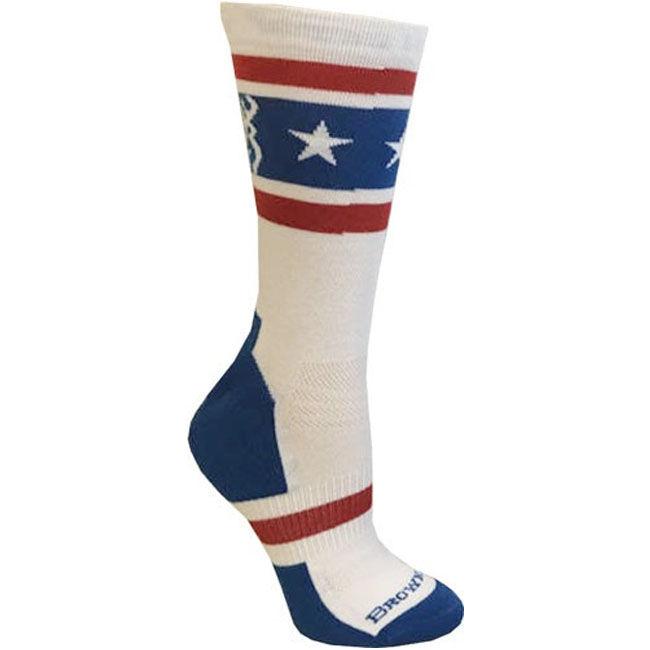 SockGuy Crew USA Flag Sock Red//White//Blue LG//XL