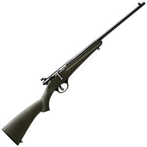 "Savage Rascal Youth Single Shot Bolt Action Rifle .22 LR 16.25"" Barrel Green Synthetic Stock Blued Barrel Finish 13790"