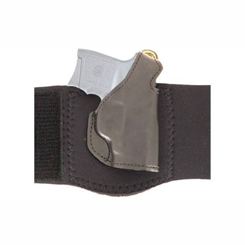 DeSantis Gunhide Die Hard Ankle Rig S&W Bodyguard .380 with CTC Laser Ankle Holster Right Hand Leather Black