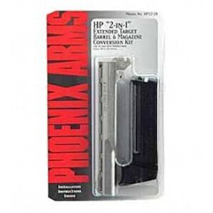 "Phoenix HP22 Target Conversion Kit .22 LR 5"" Barrel 10 Round Magazine Nickel Vent Rib"