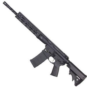 "LWRC DI M-LOK AR-15 Semi Auto Rifle 5.56 NATO 16.1"" Spiral Fluted Barrel 30 Rounds Modular One Piece M-LOK Free Float Rail System Collapsible Stock Matte Black"
