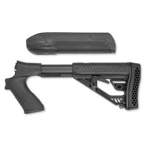 Adaptive Tactical EX Performance Forend And M4 Style Stock For Mossberg 500 12 Gauge Shotguns Black Polymer