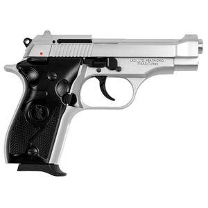 "LKCI Fatih 13 .380 ACP Semi Auto Pistol 3.9"" Barrel 12 Rounds Fixed Sights Beretta 84 Style Clone Alloy Construction Silver Finish"